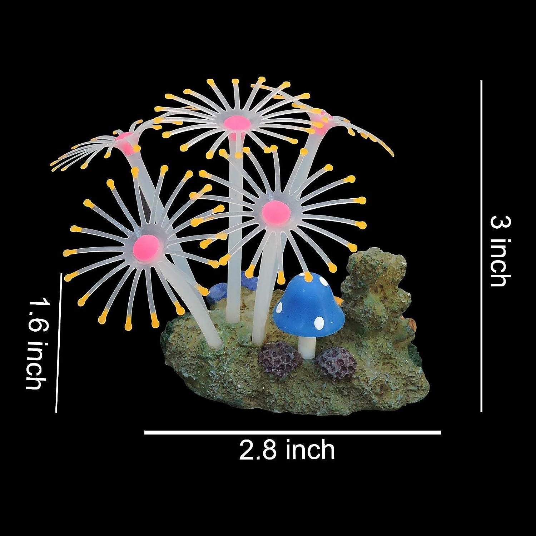Aquarium Dcor Coral Ornaments Glowing Artificial Fish Tank Decor ...