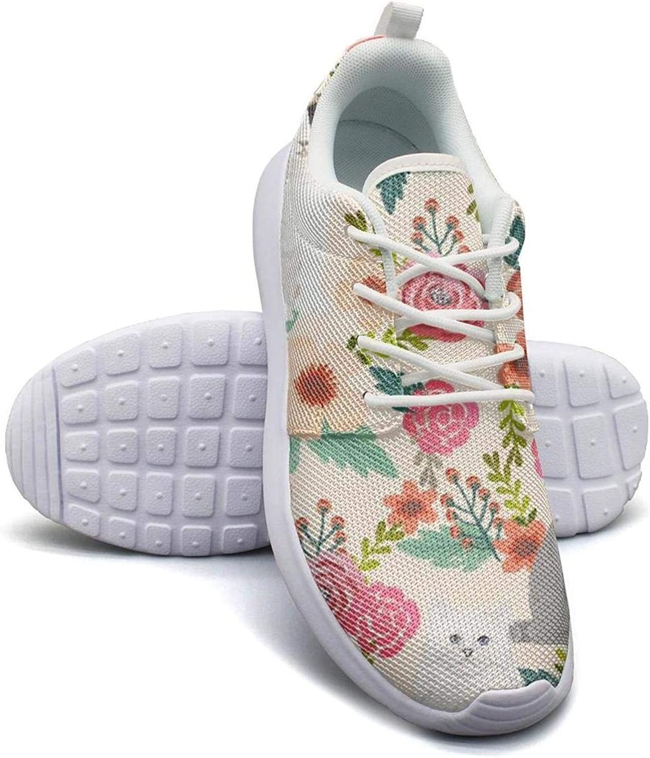 Dhaskhdkl Cat Flowers Garden Cat Lady Kitten Kitty Watercolor Girl Canvas Casual shoes New Classic Running shoes