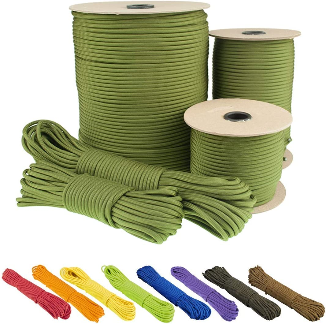 Rope for Creativity Tear-Resistant Parachute Cord for Survival Made of 100/% Nylon Survival and Handicraft 4 mm Type III EDCX Nylon Paracord 550 15, 30, 50, 100 and 300 m with 7 Wires in Many Colours