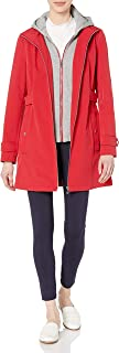 womens Sporty and Classic Zip Front Hooded Soft Shell Rain Jacket