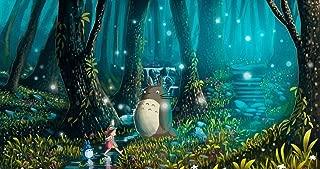 bribase shop My Neighbor Totoro - Hayao Miyazaki Cute Japan Anime Poster 43 inch x 24 inch / 24 inch x 13 inch