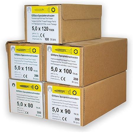 Spanplattenschrauben Sortiment REISSER 18728 Set Q200 plus Torx 400 Stück