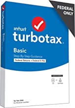 TurboTax Basic 2020 Desktop Tax Software, Federal Returns Only + Federal E-file [PC/Mac Disc]