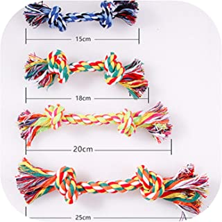 lovely-xj Pet Dog Toy Double Knot Cotton Rope Braided Bone Shape Puppy Teeth Cleaning Chew Toy for Dog Training 4 Size 1pc-in Dog Toys