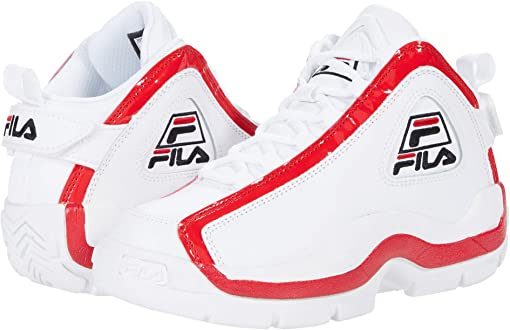 White/Fila Red/Black