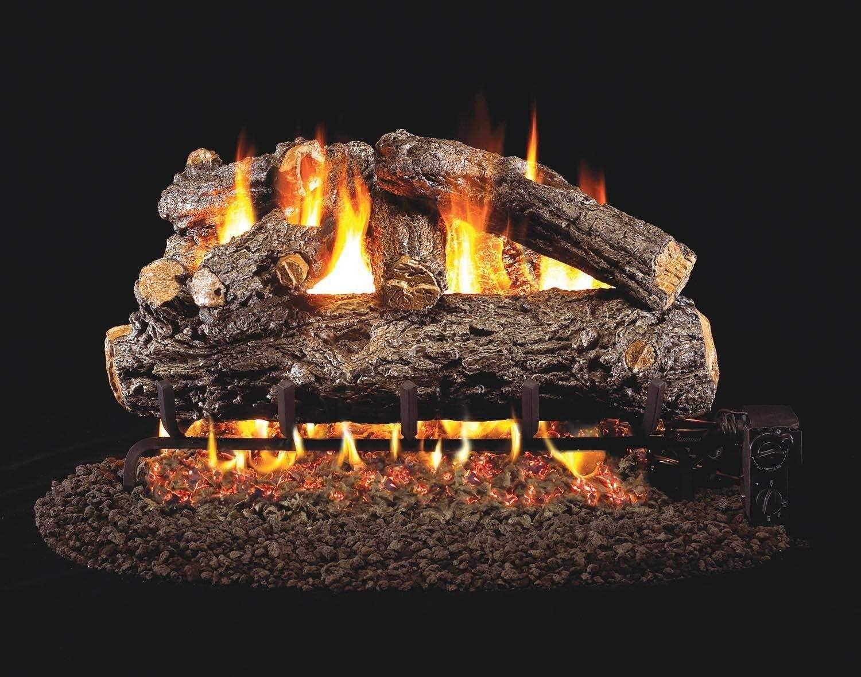 Cheap mail order shopping RealFyre Rustic Oak Designer Vented Logs HRD-18 SALENEW very popular Gas 18-Inch