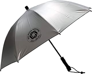 Six Moon Designs Silver Shadow Carbon Ultralight Travel Umbrella - 6.8 oz - Amazing Hiking Umbrella With Carbon Fiber Shaft, Spreader & Ribs - Large Reflective Outer Surface
