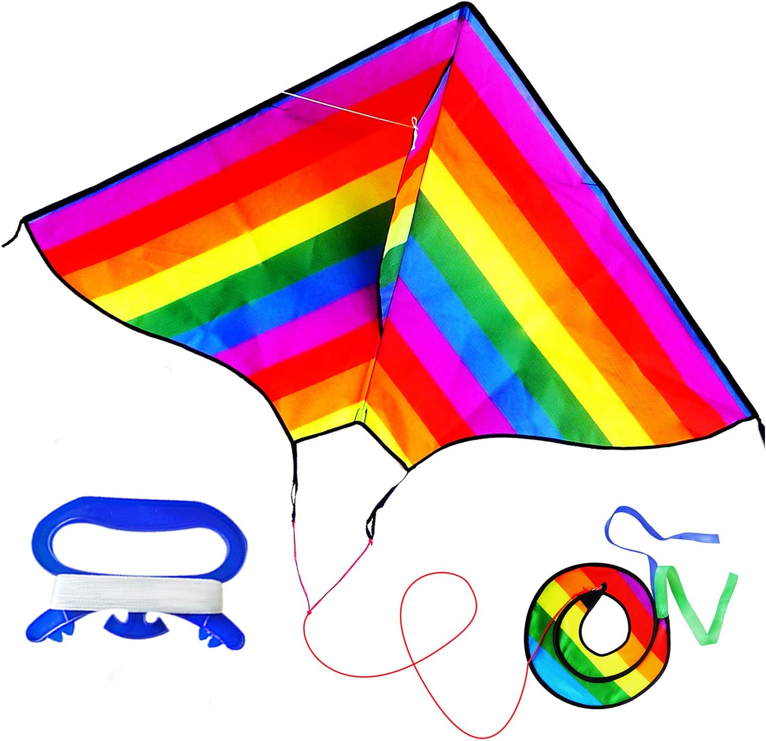 ZHUOYUE Delta Rainbow Kites for Kids to Limited time sale Adults Easy Sin Reservation Fly and