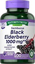 Black Elderberry Capsules 1000mg | 100 Count | Super Concentrated Sambucus Extract | Non-GMO, Gluten Free | by Nature's Truth