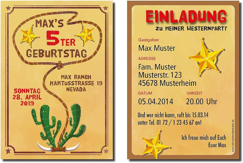 Einladung Einladungskarte Kindergeburtstag Cowboy