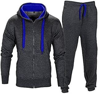 Children Kids Contrast Zip Though Training Football Tracksuit Age 7-13 Years