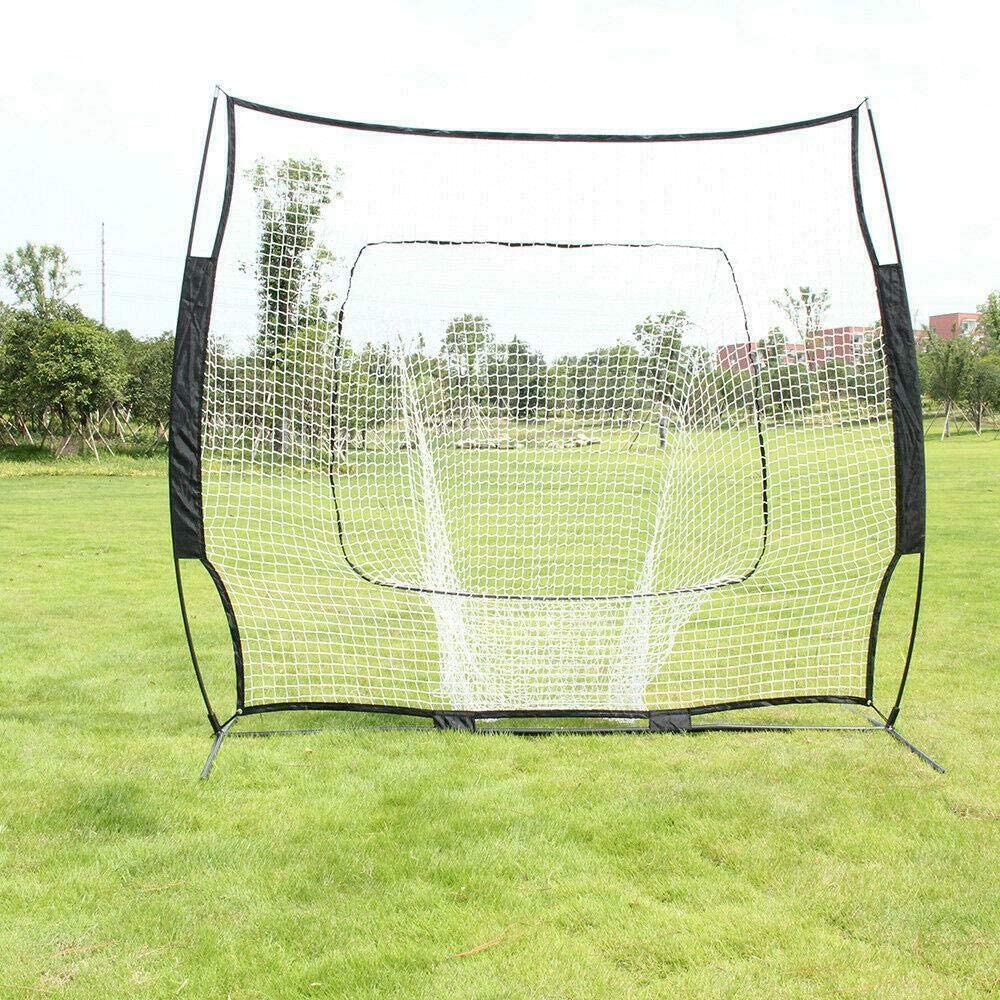 Uncommon Same day shipping Baseball 7' x - Instant Frame Bow Quantity limited Screen Hitting Net