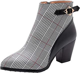 Stivali Donna Nuovi Tacchi a Spillo Color Autunno e Inverno con Tacco Grosso Stivali da Donna con Tacco Alto