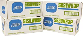 "SealWrap Plastic Wrap, 18"" Wide by 1000' Length, PVC, Clear"