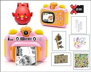 Instant Print Kids Camera   iKID ONSPOT TWIST  1080p 12MP Digital photo   Birthday Gift for Girls & Boys   Age 6 7 8 9 10 ...