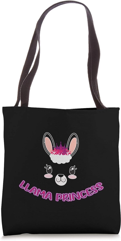 Cute Llama Princess Tote Bag