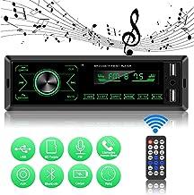 ODLICNO Autoestéreos Reproductor con Pantalla Táctil Estéreo para Auto MP3 para Coche con FM/USB/AUX Estuche para Automóvil con Bluetooth Tarjeta de Llamada Puerto USB y Ranura para Tarjeta SD(Negro)