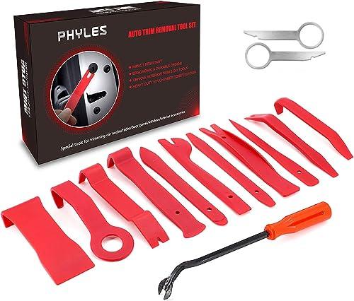 Phyles 14 Piècesoutil Demontage Garniture, Outils pour Garnitures Panneau, Auto Outil de Démontage de Panneau /Autora...