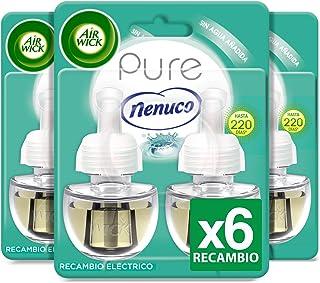 Air Wick Eléctrico - Recambios de ambientador, esencia para casa con aroma a nenuco - pack de 3 x 2 recambios (Total: 6 unidades)