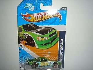Hot Wheels 2010 Chevy Impala Metalflake Green 2012 Faster Than Ever Card 91