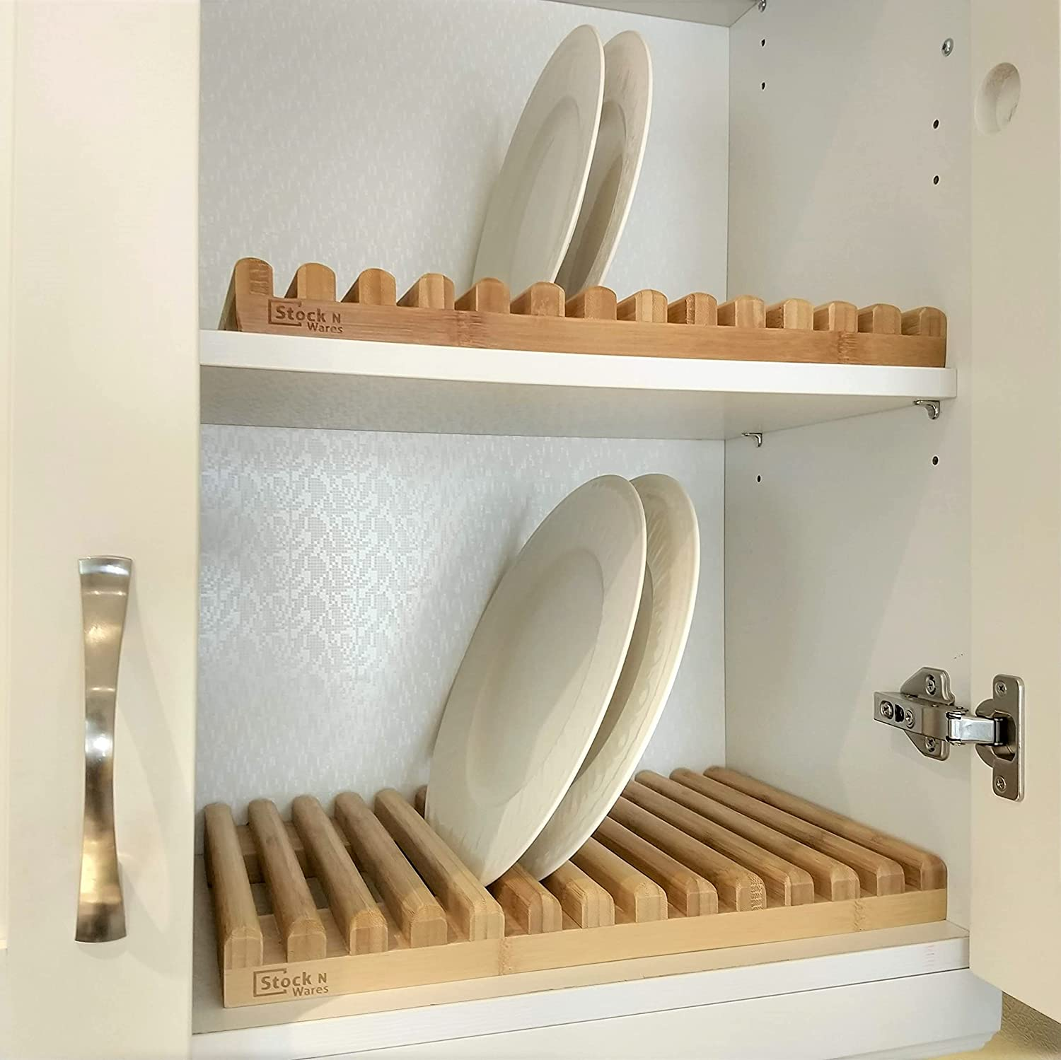 Stock N Wares Bamboo National products Dish Rack Width Holder 0.44