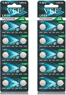 VEE LR44 Batteries A76 AG13 L1154F L1154 357A 1.5V Alkaline Button Cell Battery (20PCS)