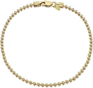 Amberta Gioielli - Bracciale - Placcato Oro 18K - Catenina Argento Sterling 925 - Modelli Differenti - Lunghezza: 18 19 20 cm