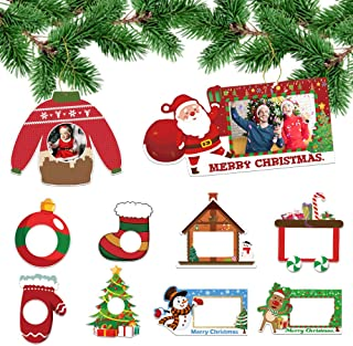 Toy Train Silver 2017 2018 Two Nicole Picture Photo Frame Christmas Ornaments