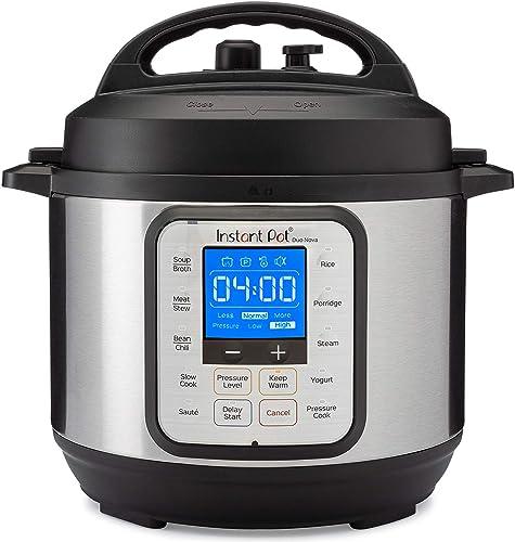 Instant Pot Duo Nova 7-in-1 Electric Pressure Cooker, Slow Cooker, Rice Cooker, Steamer, Saute, Yogurt Maker, 3 Quart...