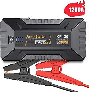 TACKLIFE KP120 1200A - Arrancador de Coche para veículos de Gasolina hasta 8.000 CC y de Diesel hasta 6.000 CC con Luz LED, Carga Rápida 3.0 y Puerto Tipo-C