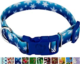 Country Brook Petz - Deluxe Dog Collar - Christmas Collection with 15 Festive Designs