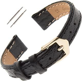 10-13mm Ladies Flat Stitched Buffalo-Grain Calfskin Watch Strap FS52