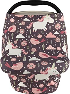 Goddess Aalto Baby Stretchy & Ultra Soft Car Seat Cover ,Multi-use Breastfeeding Nursing Towel Used for Stroller,High Chair, Shopping Cart,,Scarf and Shawl for Girls Boys - Unicorn Print