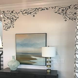 "Flower Decals for Nursery, Living Room, Bedroom, Girls Room, Kids Room. 100"" x 29"