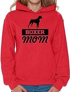 Women's Boxer Mom Hoodie Hooded Sweatshirts Dog Mom Hoodie Hooded Sweatshirts