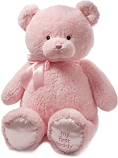 Baby GUND My First Teddy Bear Jumbo Stuffed Animal Plush, Pink, 36