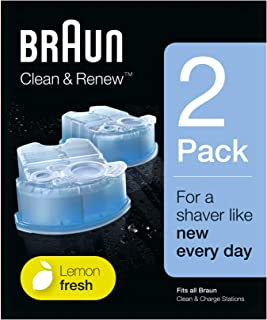 Braun CCR2Cleaner Refill Kit Renew Shaver Cleaning Gel, Pack of 2
