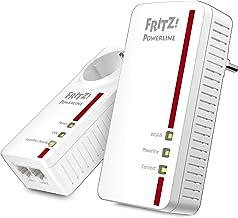 AVM FRITZ!Powerline 1260E/1220E WLAN Set (WLAN-Access Point, ideal für Media-Streaming oder NAS-Anbindungen, 1200 MBit/s, ...