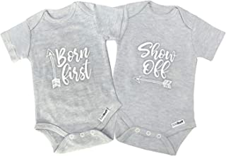 Twin Onesies Outfits Baby Girls & Boys, Perfect Newborn Twins 2 Pack