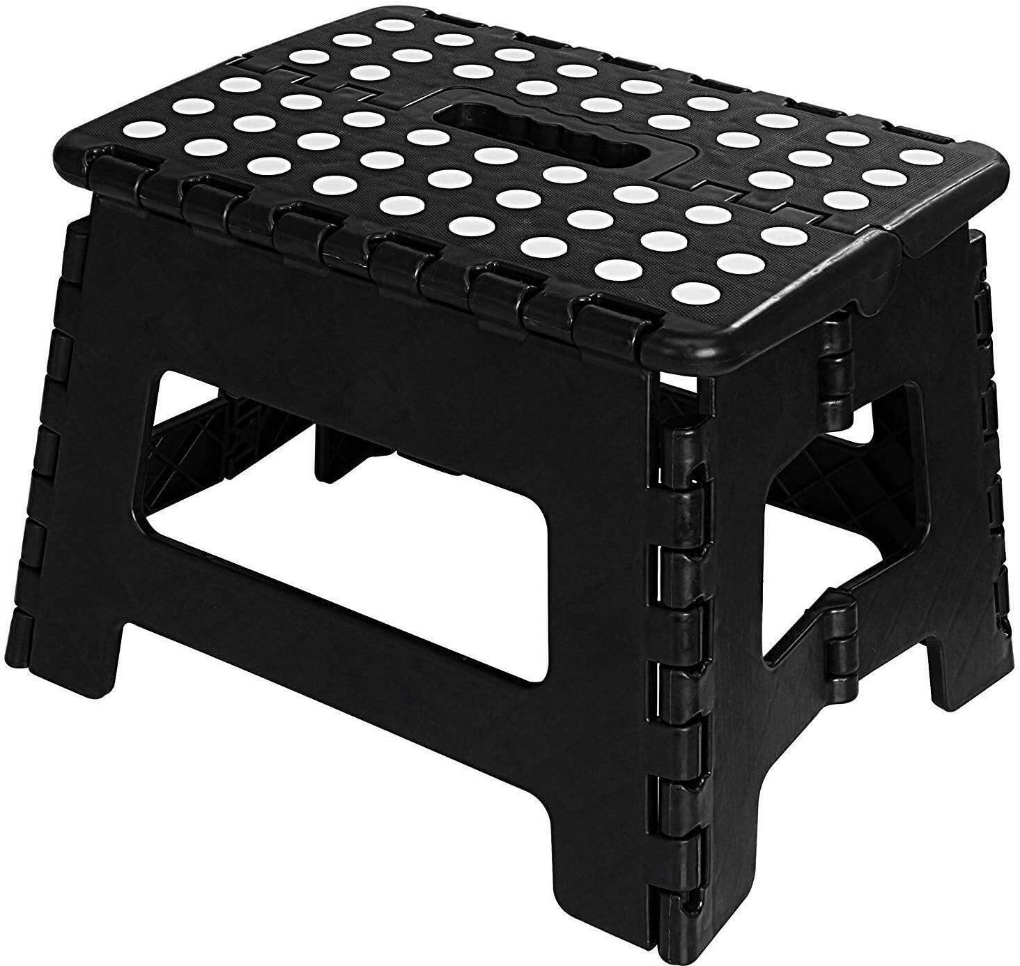 Folding Step Stool for Kids 11 Wide 9 Tall Plastic 300lbs Capacity Step Stool-Foot Stool-Folding Chair-Stool Chair-Folding Step Stool-Improvement-Counter Height Chairs-Folding Stool