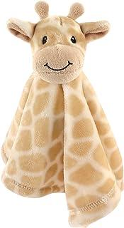 Hudson Baby Unisex Baby Animal Face Security Blanket, Giraffe, One Size