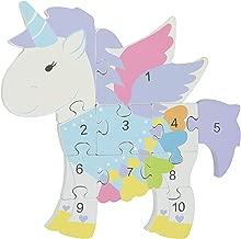 Orange Tree Toys Unicorn Wooden Number Puzzle,