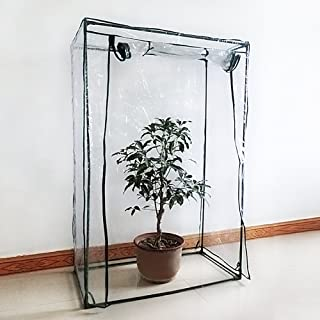 ZSL Greenhouse Mini Plant Cover Tomato Garden Tent PVC Green House Household Plant Greenhouse Cover Indoor Outdoor Portable Solution for Grow Seeds, Seedlings, Potted Plants(Cover only, no Stand)