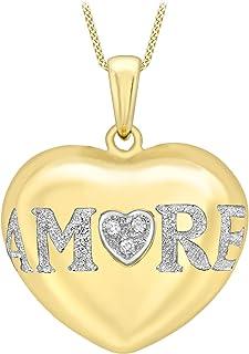 Carissima Gold Collar de mujer con oro amarillo de 9 quilates (375/1000), diamante, 46 cm