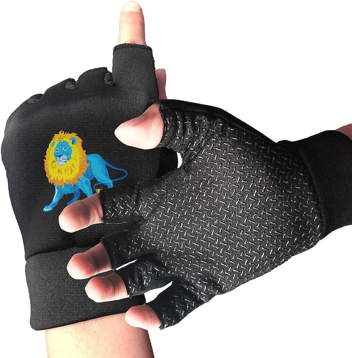 Gloves Leo Zodiac Blue Pattern Fingerless Gloves Short Touchscreen Gloves Winter Motorcycle Biker Mitten