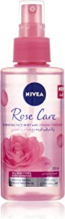 NIVEA Rose Care Face Hydrating Mist, Organic Rose Water, All Skin Types, 150ml