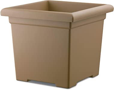 Akro-Mils ROS15500A34 Accent Square Planter, Sandstone, 15-1/2-Inch