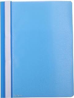حافظة مستندات بلاستيك 12 قطعة مقاس ايه 4 من ساسكو - ازرق