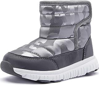 أحذية شتوية دافئة للأولاد والبنات مقاومة للماء للطقس البارد في الهواء الطلق (طفل صغير/طفل صغير)