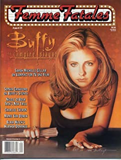 Femme Fatales Magazine BUFFY THE VAMPIRE SLAYER Vampires MAMIE VAN DOREN C C Costigan SEXY PIN-UPS August 1999